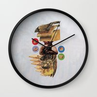 burger Wall Clocks featuring Burger by Lerson