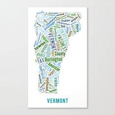 Word Cloud - Vermont Canvas Print