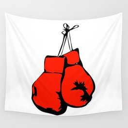 Hanging Boxing Gloves Wall Tapestry