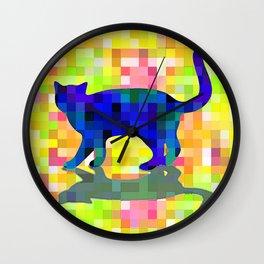 Cubist Cat Wall Clock