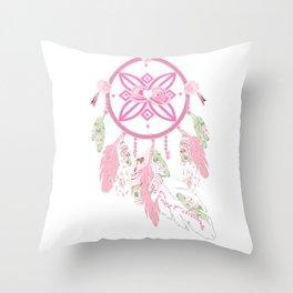 Sweet Dreams, Shabby chic dream catcher Throw Pillow