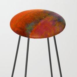 Orange Study #1 Digital Painting Counter Stool