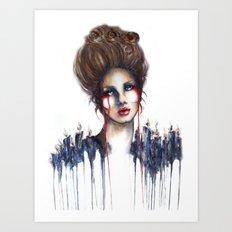 Burn // Fashion Illustration Art Print