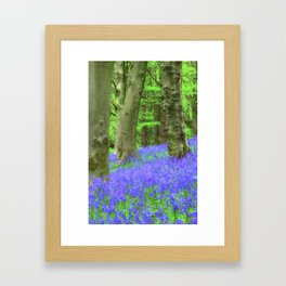 Bluebell Woods, The Wenallt #2 Framed Art Print