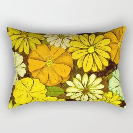 Abstract #417 Flower Power #5 Mellow Yellow Rectangular Pillow