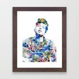 Bob Dylan watercolor Framed Art Print