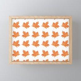 Fall Maple Leaf Pattern Framed Mini Art Print