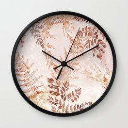 Snowflake ferns Wall Clock