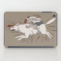 princess mononoke iPad Cases featuring Princess Mononoke by Alicyn