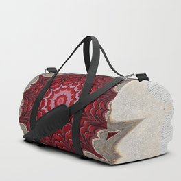 Raspberry Mandala Abstract Duffle Bag
