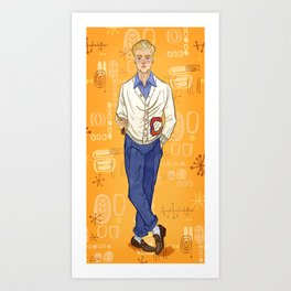 Fred Jones from Mystery Incorporated (circa 1954) Art Print