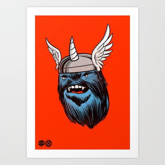 Yeticorn Comic Heroes series: Thor! Art Print