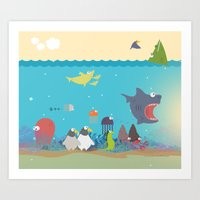 What's going on at the sea? Kids collection Art Print