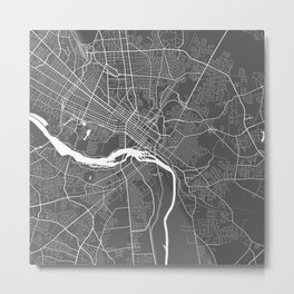 Richmond USA Modern Map Art Print Metal Print