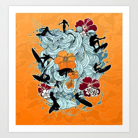 Waves Art Print