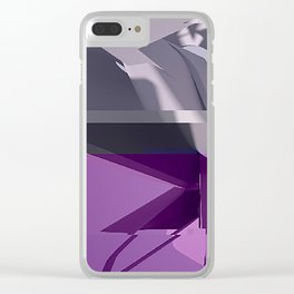Abstract Glitch 01 Clear iPhone Case