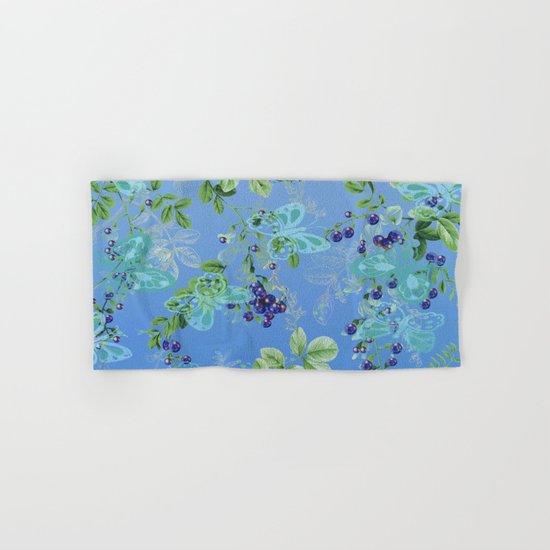 blueberries and butterflies Hand & Bath Towel