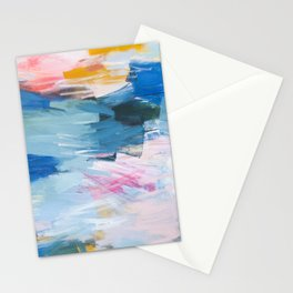 Abstract Neon Painting Stationery Cards