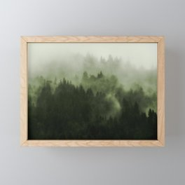 Drift - Green Mountain Forest Framed Mini Art Print