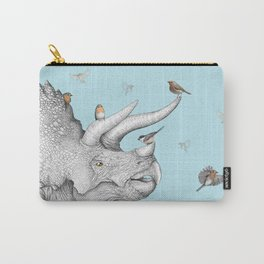 Triceratops and Birdies Carry-All Pouch
