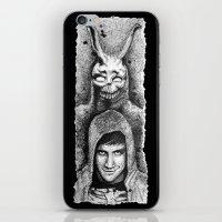 donnie darko iPhone & iPod Skins featuring Donnie Darko Scribble Portrait by Gabriel Saint