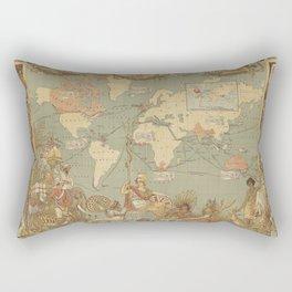 Ancient world map 4 Rectangular Pillow