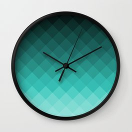 Ombre squares Wall Clock