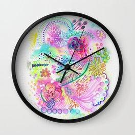Joyfully pink Wall Clock