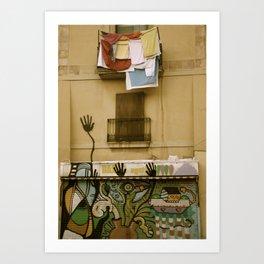 Barcelona Graffiti Art Print