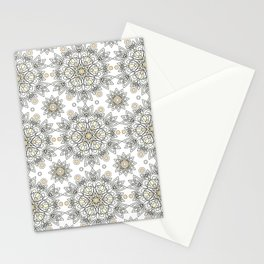 Openwork pattern on a white background. Stationery Cards
