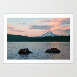 Timothy Lake On the Sunset Art Print