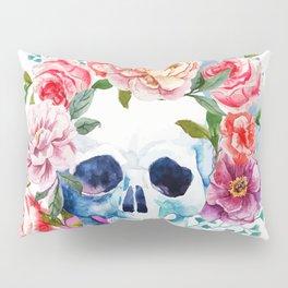 Watercolor skull & flowers Pillow Sham