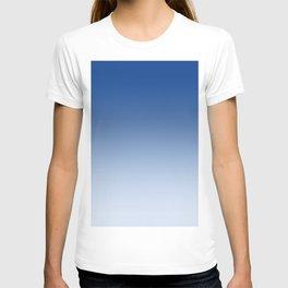 Blue to Pastel Blue Horizontal Linear Gradient T-shirt