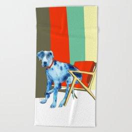 Great Dane in Chair #1 Beach Towel