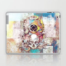 vintage floral skull Laptop & iPad Skin