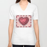 confetti V-neck T-shirts featuring Confetti by Shelley Ylst Art