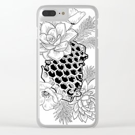 Succulents & Honeycomb Clear iPhone Case