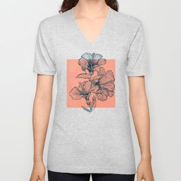 Hibiscus Colors Unisex V-Neck
