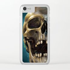 Skull 4 Clear iPhone Case