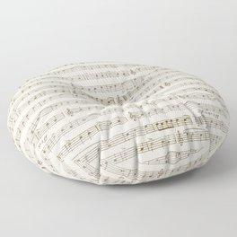 Sheet Music Floor Pillow