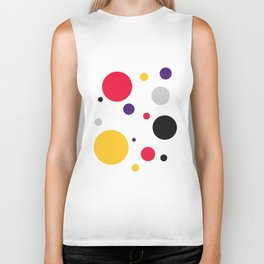 Colorful circles Biker Tank