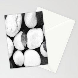 Zen White Stones On A Black Background #decor #society6 #buyart Stationery Cards