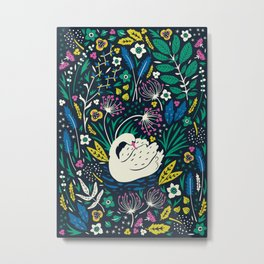 Wild Swan Metal Print