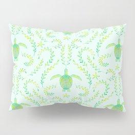 Sea Turtle Watercolor Pattern Pillow Sham