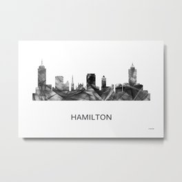 Hamilton Ontario Canada Skyline WB-BW Metal Print