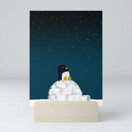 Star gazing - Penguin's dream of flying Mini Art Print