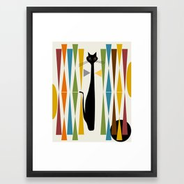 Mid-Century Modern Art Cat 2 Framed Art Print
