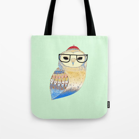 hipster owl Tote Bag