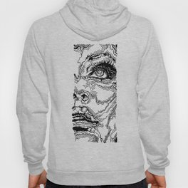 Topographic Face Hoody