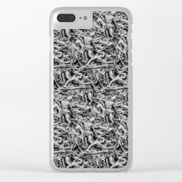 Sculpture Collage Pattern Clear iPhone Case